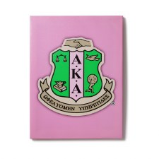 Alpha Kappa Alpha Canvas Shield Art