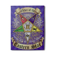 Order of the Eastern Star Canvas Shield Art