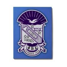 Phi Beta Sigma Canvas Shield Art