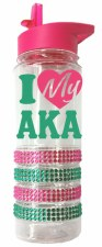 Alpha Kappa Alpha Bling Water Bottle