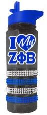 Zeta Phi Beta Bling Water Bottle