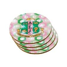 Alpha Kappa Alpha Coaster Set