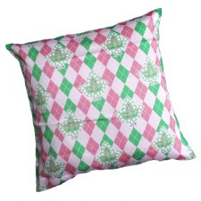 AKA Argyle Mascot Print Pillow