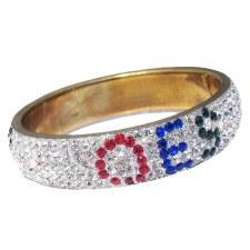 Order of the Eastern Star Rhinestone Crystal Bangle