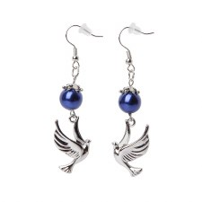 Zeta Phi Beta Pearl Mascot Earrings