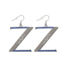 Z Rhinestone Earrings