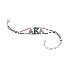Alpha Kappa Alpha Rhinestone Bracelet