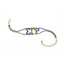 Sigma Gamma Rho Rhinestone Bracelet