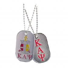 Kappa Alpha Psi Colored Letters & Crest Dog Tag