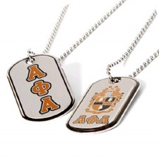 Alpha Phi Alpha Reversible Silver Dog Tag