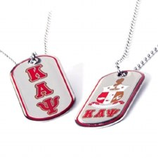 Kappa Alpha Psi Reversible Silver Dog Tag