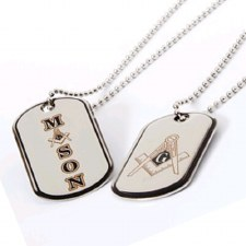 Mason Reversible Silver Dog Tag