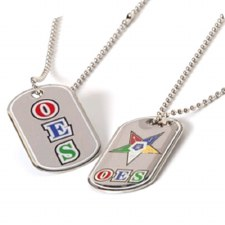Order of the Eastern Star Reversible Silver Dog Tag