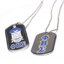 Phi Beta Sigma Reversible Silver Dog Tag