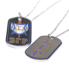 Sigma Gamma Rho Reversible Silver Dog Tag