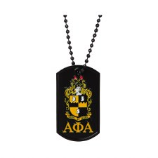 Alpha Phi Alpha Signature Dog Tag