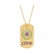 Omega Psi Phi Signature Dog Tag