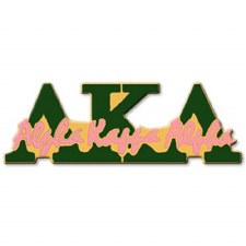 Alpha Kappa Alpha Signature Lapel Pin