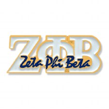 Zeta Phi Beta Signature Lapel Pin