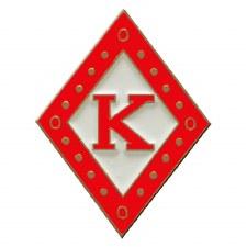 Kappa Alpha Psi Mascot Diamond K Lapel Pin
