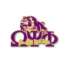 Omega Psi Phi Signature & Mascot Lapel Pin