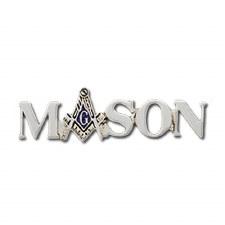 Mason Silver Letter Lapel Pin