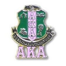 Alpha Kappa Alpha Shield & Letters Lapel Pin