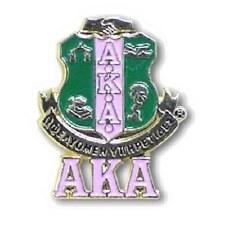 Alpha Kappa Alpha Shield & Letters Lapel Pin
