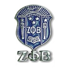 Zeta Phi Beta Shield & Letters Lapel Pin