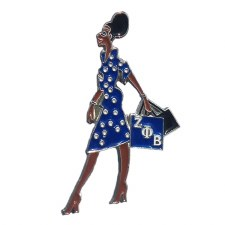 Zeta Phi Beta Lady Diva Lapel Pin