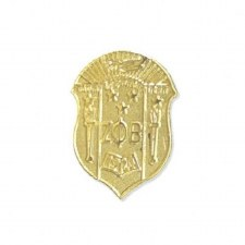 Zeta Phi Beta Sandblast Shield Lapel Pin