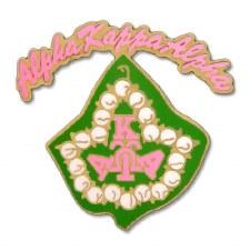 Alpha Kappa Alpha Rocker Ivy Lapel Pin