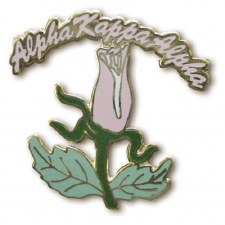 Alpha Kappa Alpha Rocker Rose Lapel Pin