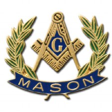 Mason Crest & Wreath Lapel Pin