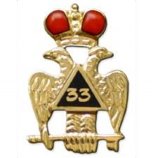 Mason 33nd Wing Down Lapel Pin