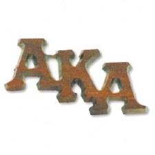 Alpha Kappa Alpha Small Wooden Lapel Pin