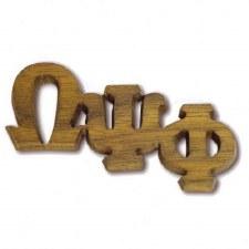 Omega Psi Phi Small Wooden Lapel Pin