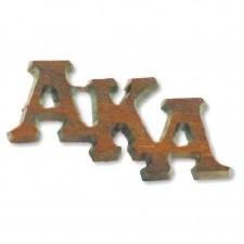 Alpha Kappa Alpha Large Wooden Lapel Pin