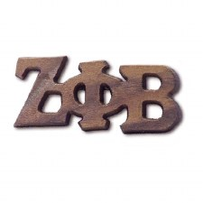 Zeta Phi Beta Large Wooden Lapel Pin