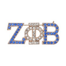 Zeta Phi Beta Rhinestone Letter Brooch