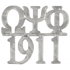 Omega Psi Phi Silver Chapter Bar Lapel pin