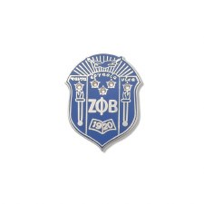Zeta Phi Beta Studded Crest Lapel Pin