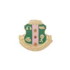 Alpha Kappa Alpha Studded Crest Lapel Pin