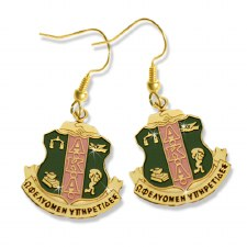 Alpha Kappa Alpha Shield Earrings
