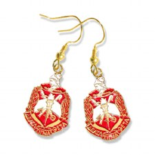 Delta Sigma Theta Shield Earrings