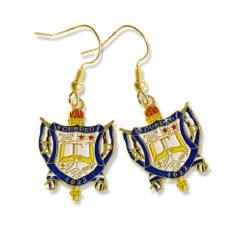 Sigma Gamma Rho Shield Earrings