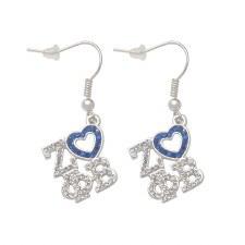 Zeta Phi Beta Letters & Heart Earrings