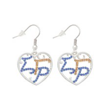 Sigma Gamma Rho Filigree Earrings