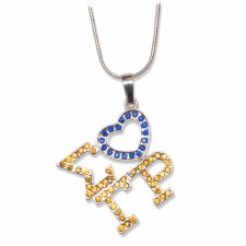 Sigma Gamma Rho Letters & Heart Necklace