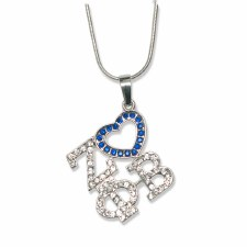 Zeta Phi Beta Letters & Heart Necklace